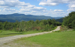 Road leading to Northern Vermont property.